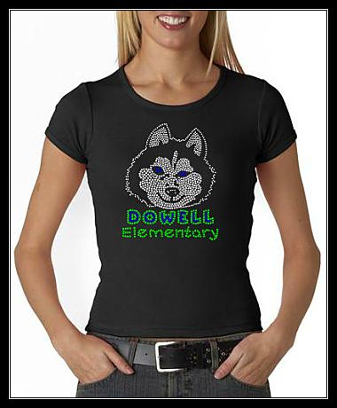 DOWELL ELEMENTARY SCHOOL RHINESTONE SHIRT