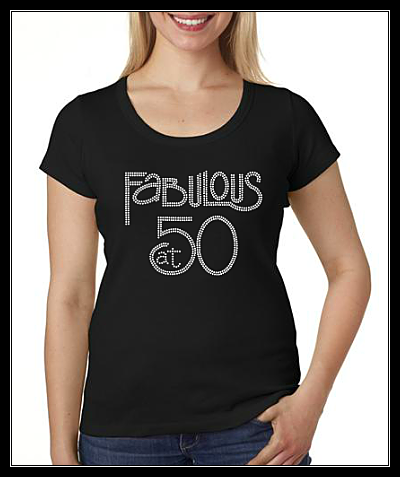 FABULOUS AT 50 RHINESTONE DIGITAL DOWNLOAD OR TRANSFER