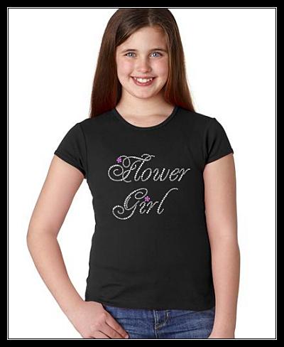 FLOWER GIRL RHINESTONE TRANSFER OR DIGITAL DOWNLOAD