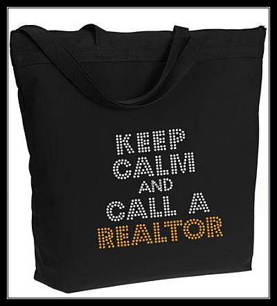 KEEP CALM AND CALL A REALTOR RHINESTONE TRANSFER OR DIGITAL DOWNLOAD