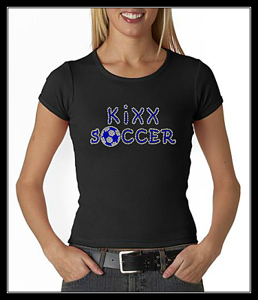 KiXX SOCCER RHINESTONE CUSTOM SHIRT