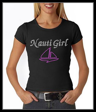 NAUTI GIRL RHINESTONE TRANSFER OR DIGITAL DOWNLOAD
