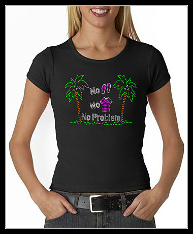 NO SHOES... NO SHIRT... NO PROBLEM RHINESTONE TRANSFER OR DIGITAL DOWNLOAD