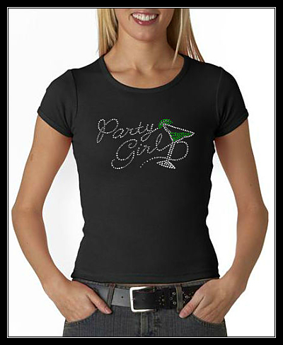 PARTY GIRL - MARGARITA RHINESTONE SHIRT