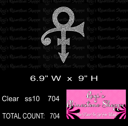 PRINCE LOVE SYMBOL RHINESTONE DIGITAL DOWNLOAD OR TRANSFER