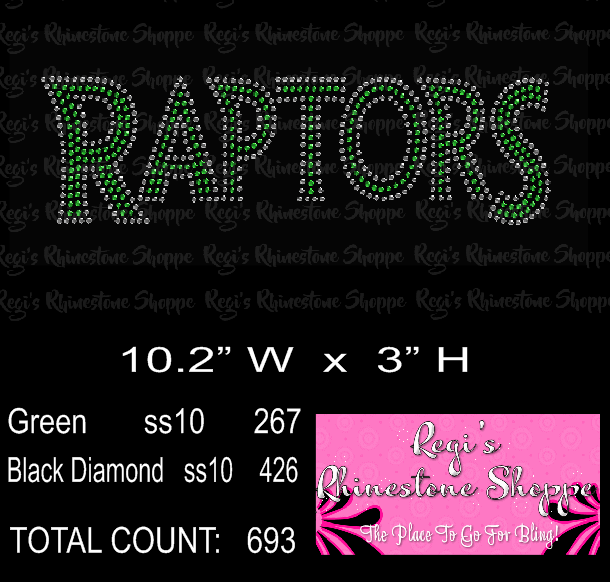 RAPTORS HOTFIX RHINESTONE DESIGN DOWNLOAD OR TRANSFER