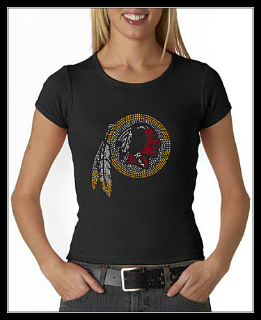 REDSKINS RHINESTONE CUSTOM SHIRT