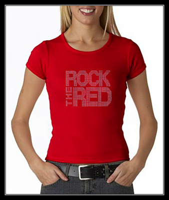 ROCK THE RED RHINESTONE SHIRT - RED