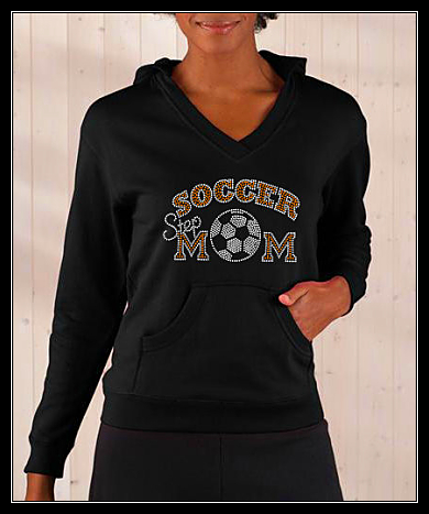 "SOCCER ""STEPMOM"" RHINESTONE TRANSFER OR DIGITAL DOWNLOAD"
