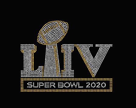 Super Bowl 2020 Rhinestone Transfer