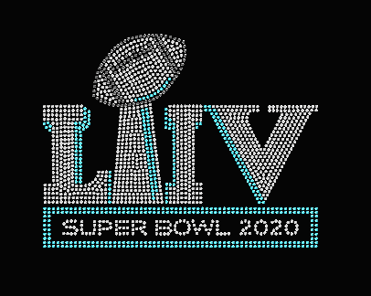 Super Bowl 2020 Rhinestone Transfer