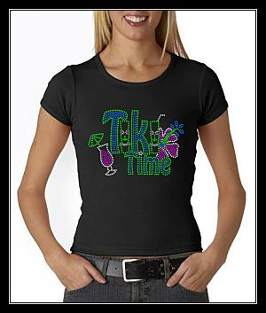 TIKI TIME RHINESTONE SHIRT
