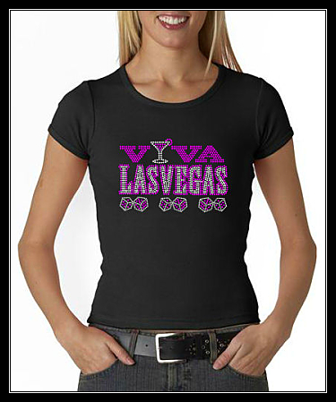 VIVA LAS VEGAS RHINESTONE TRANSFER OR DIGITAL DOWNLOAD
