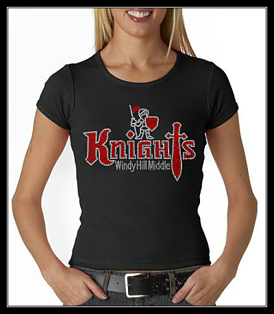 WINDY HILL MIDDLE KNIGHTS RHINESTONE CUSTOM SHIRT