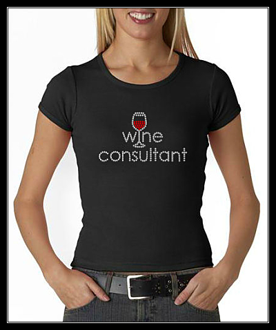 WINE CONSULTANT RHINESTONE TRANSFER OR DIGITAL DOWNLOAD