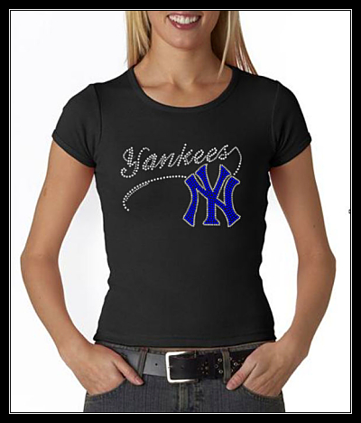 YANKEES RHINESTONE SHIRT
