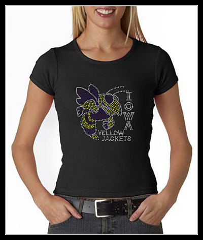 IOWA YELLOW JACKETS RHINESTONE SHIRT